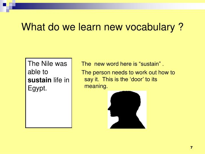What do we learn new vocabulary ?