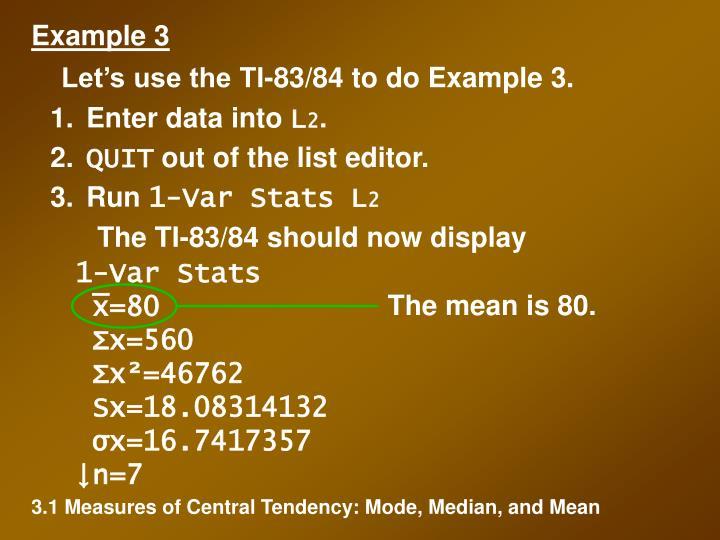 1-Var Stats