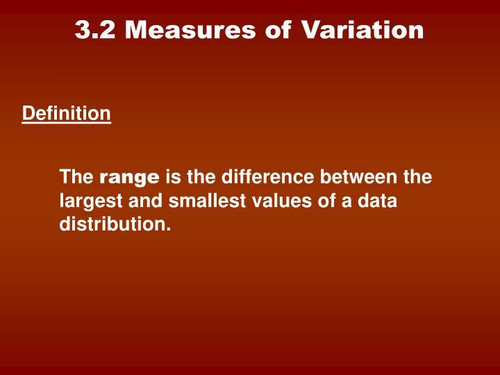 3.2 Measures of Variation