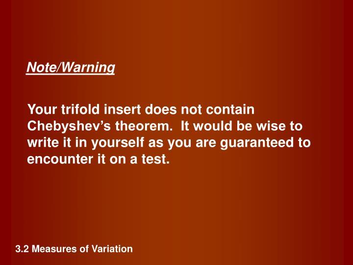 Note/Warning