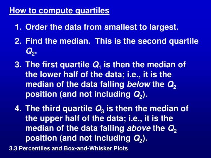 How to compute quartiles