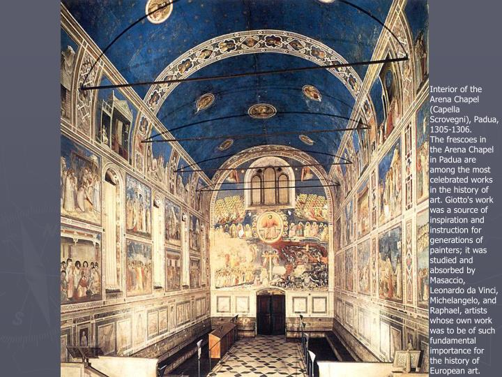 Interior of the Arena Chapel (Capella Scrovegni), Padua, 1305-1306.