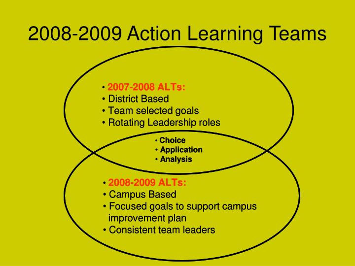 2008-2009 Action Learning Teams
