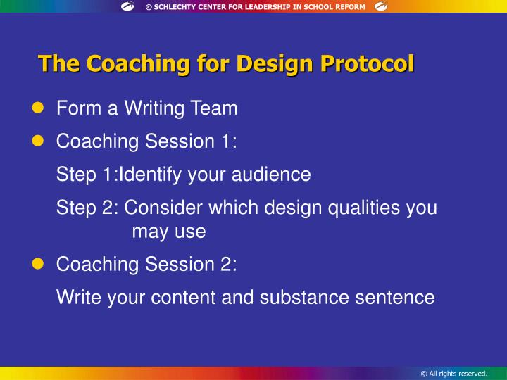 The Coaching for Design Protocol
