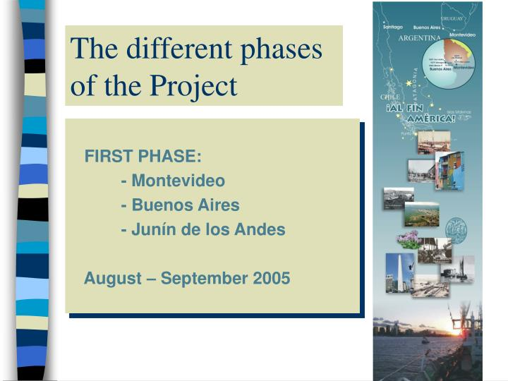 The different phases of the Project
