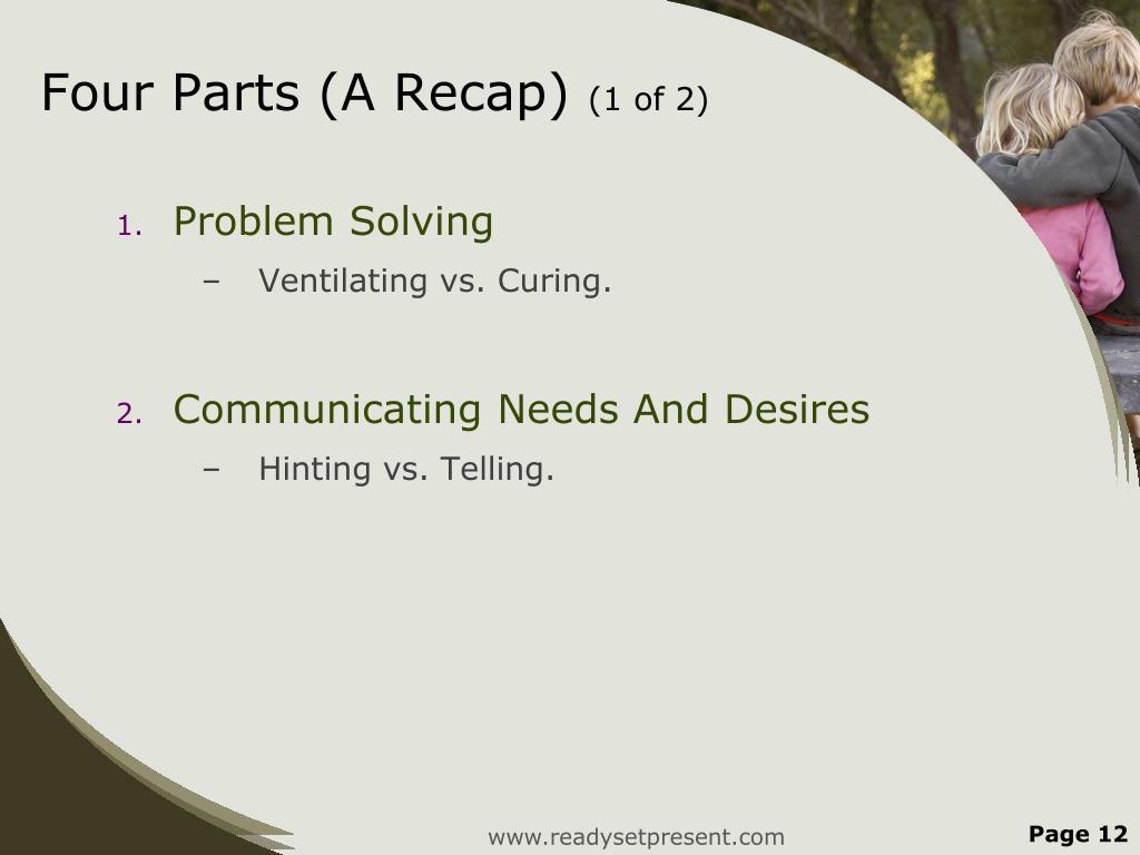 Four Parts (A Recap)