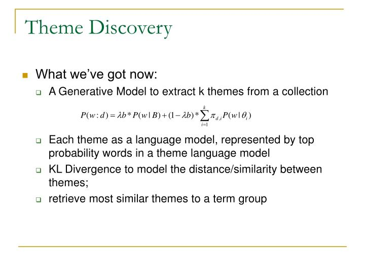Theme Discovery