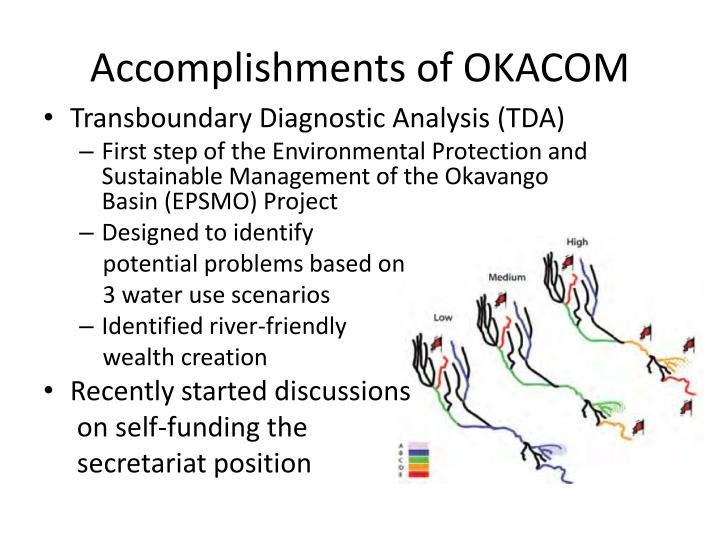 Accomplishments of OKACOM