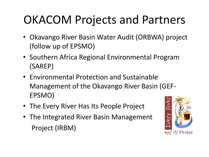 OKACOM Projects and Partners