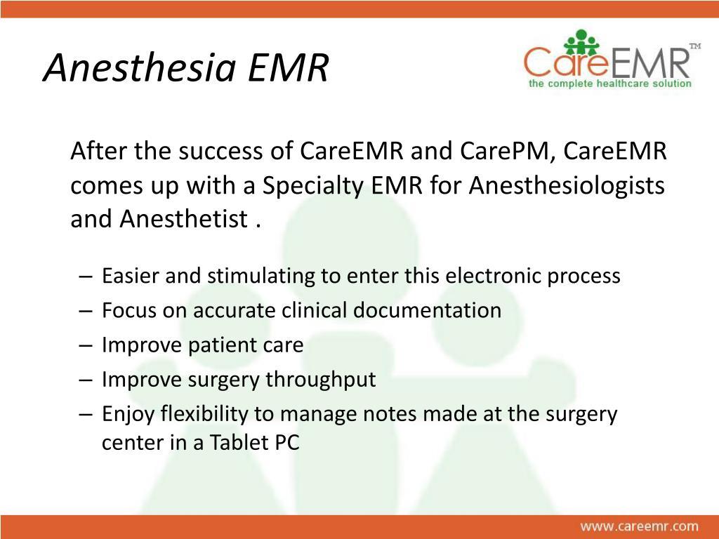 Anesthesia EMR