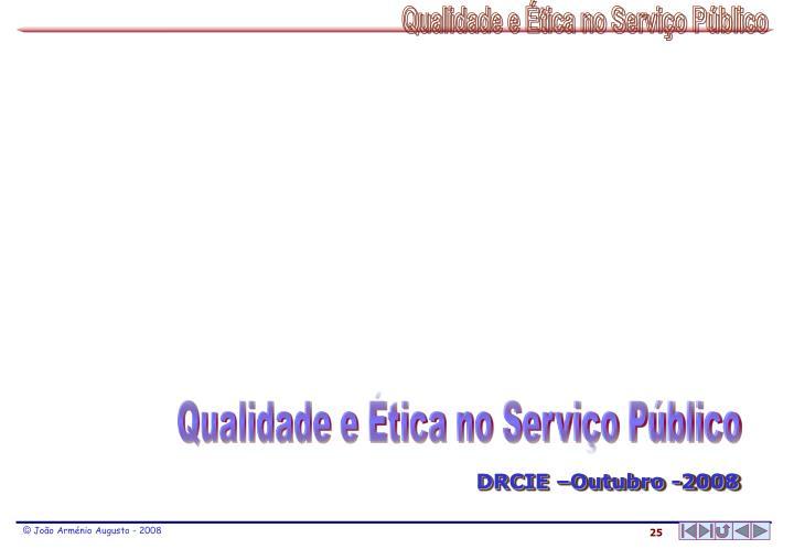 Qualidade e Ética no Serviço Público