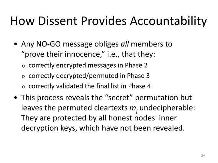 How Dissent Provides Accountability