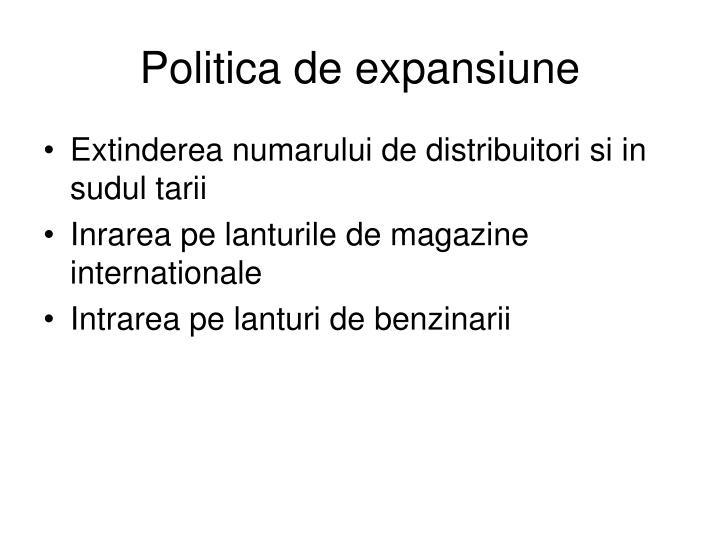 Politica de expansiune