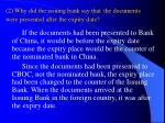 2 why did the issuing bank say that the documents were presented after the expiry date