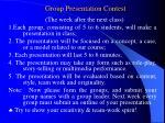 group presentation contest