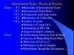 international trade theory practice