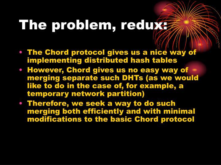 The problem, redux: