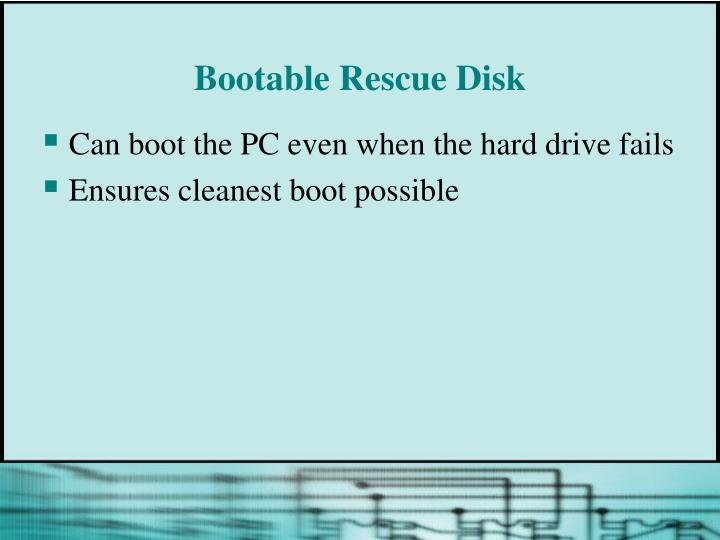 Bootable Rescue Disk