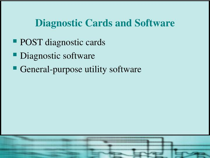 Diagnostic Cards and Software