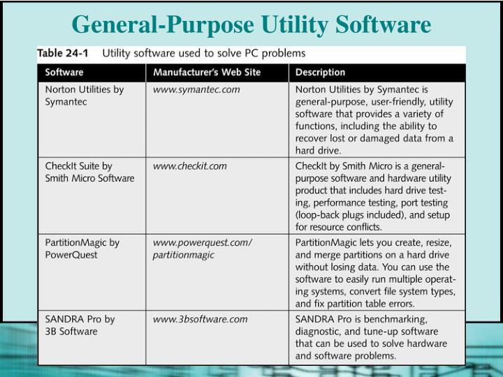 General-Purpose Utility Software