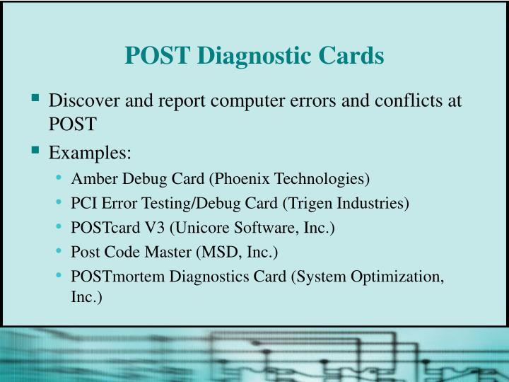 POST Diagnostic Cards