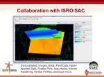 collaboration with isro sac
