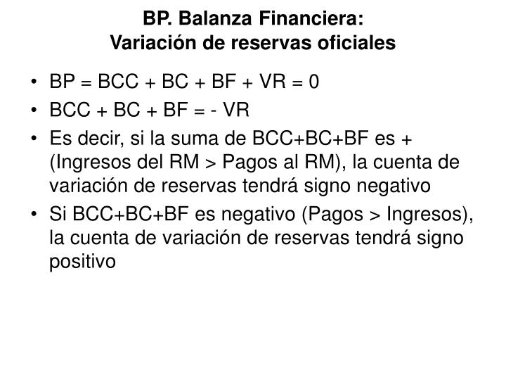 BP. Balanza