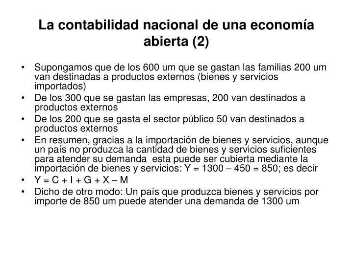 La contabilidad nacional de una economía abierta (2)