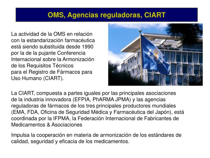 OMS, Agencias reguladoras, CIART