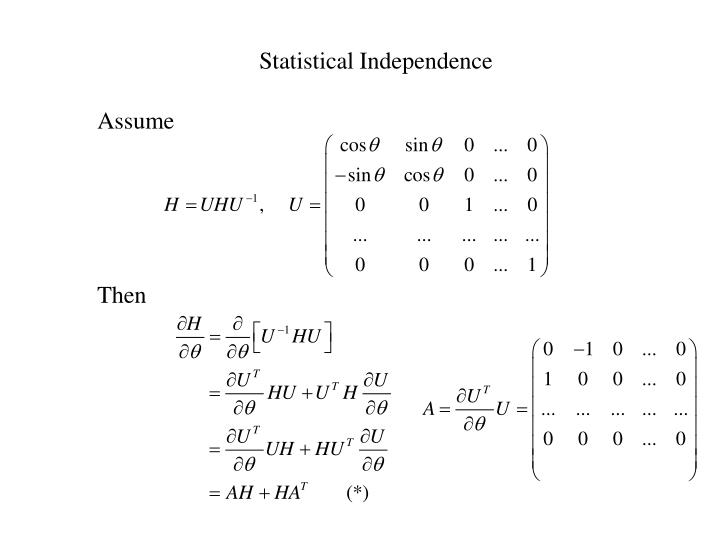 Statistical Independence