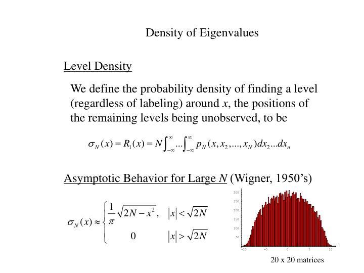 Density of Eigenvalues