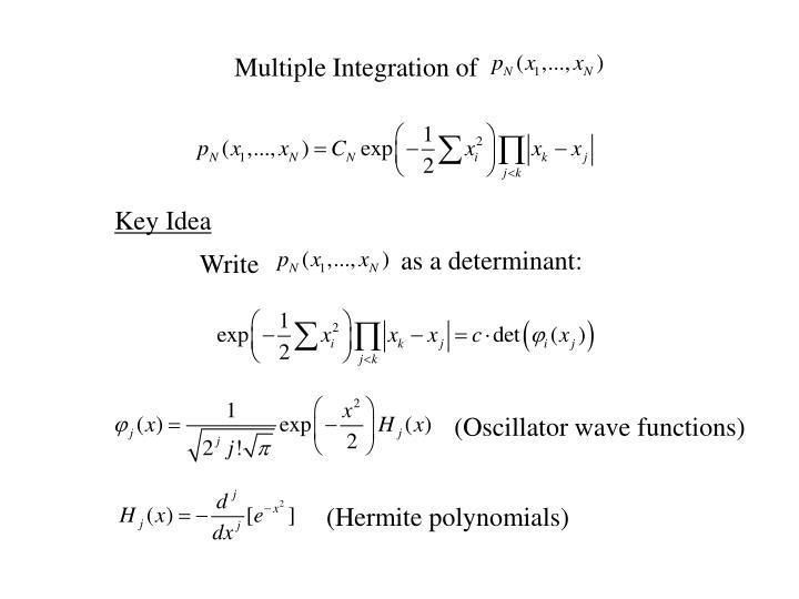 Multiple Integration of