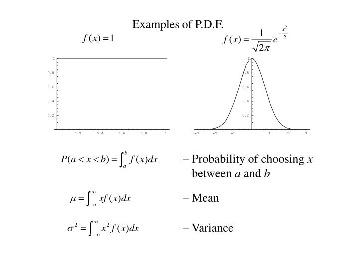 Examples of P.D.F.
