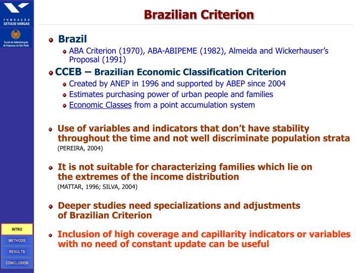 Brazilian Criterion