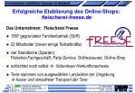 erfolgreiche etablierung des online shops fleischerei freese de