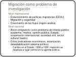 migraci n como problema de investigaci n