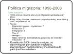 pol tica migratoria 1998 2008