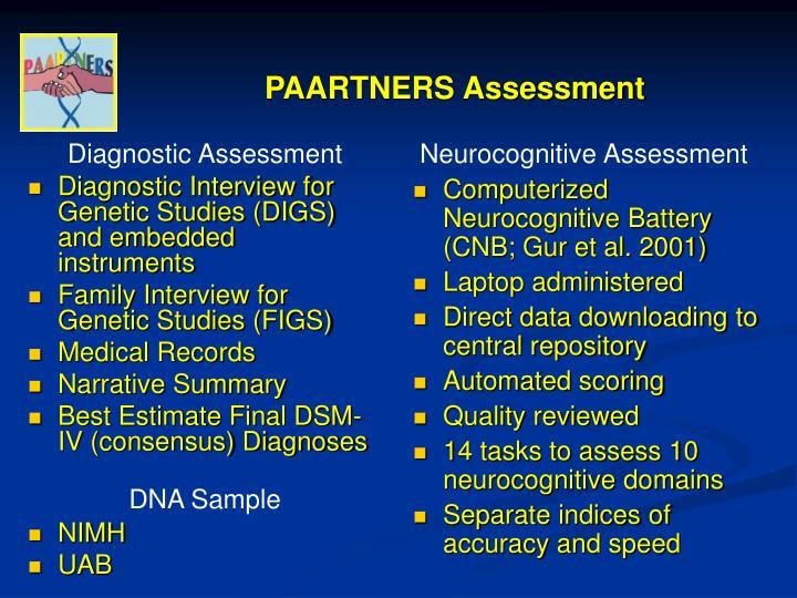 PAARTNERS Assessment
