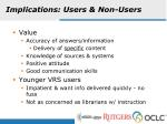 implications users non users
