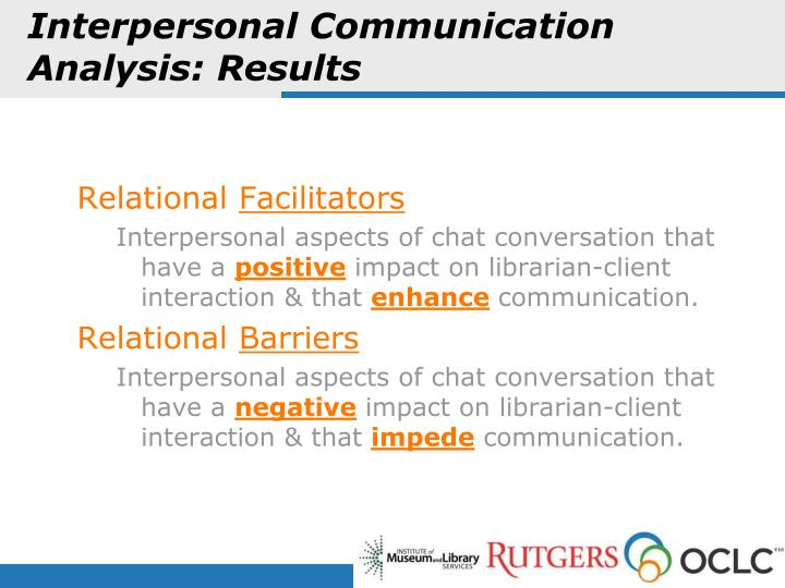 Interpersonal Communication Analysis: Results
