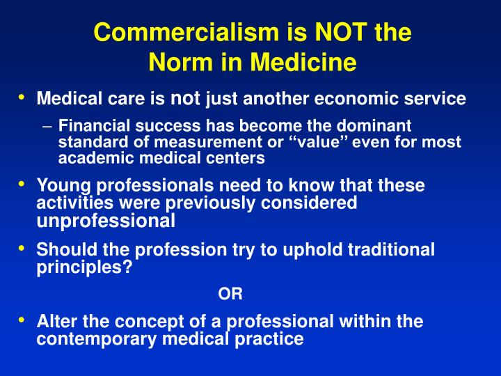 Commercialism is NOT the