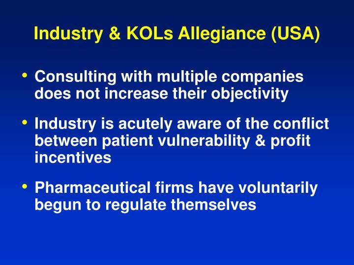 Industry & KOLs Allegiance (USA)