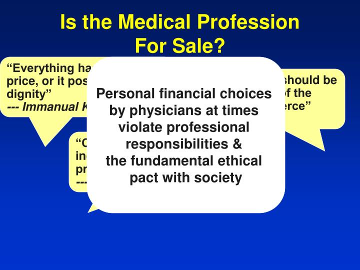 Is the Medical Profession