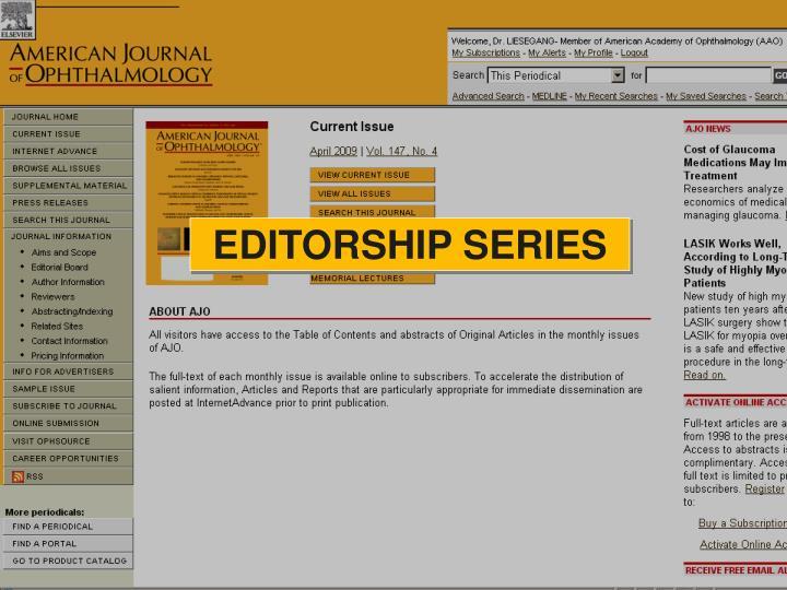 EDITORSHIP SERIES