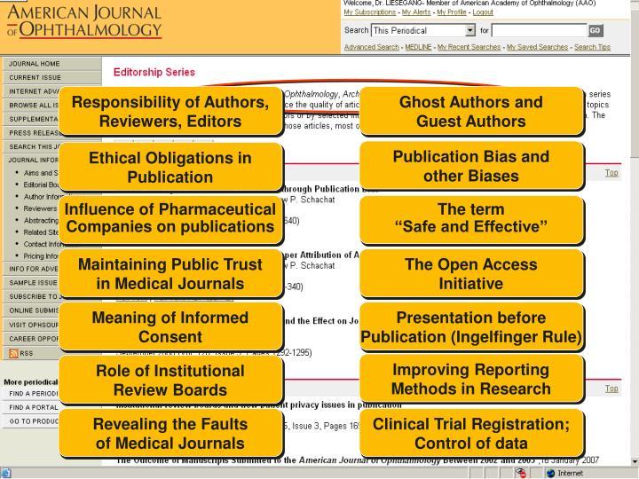 Responsibility of Authors,