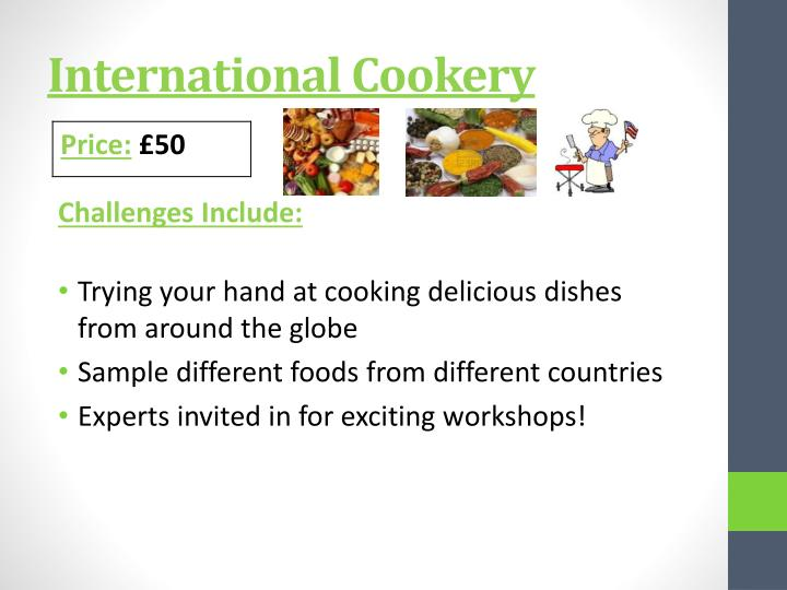 International Cookery