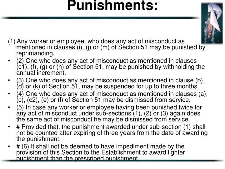 Punishments: