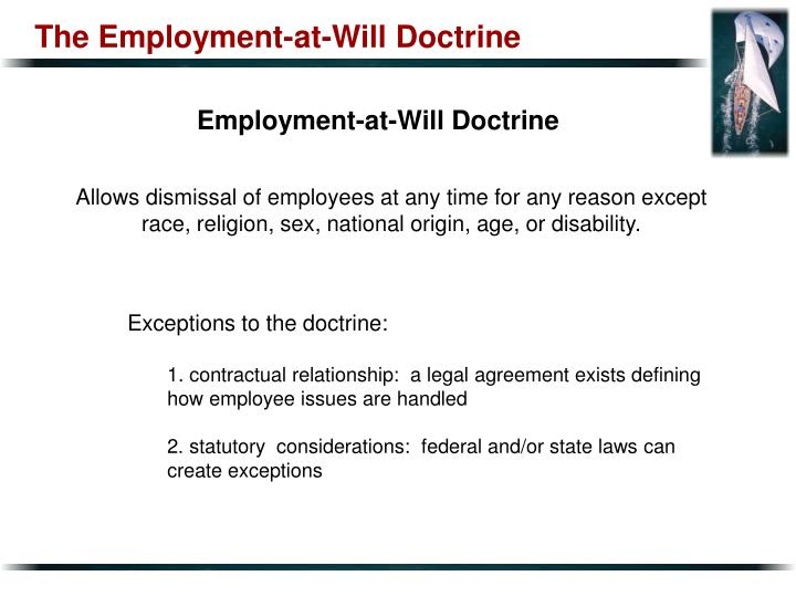 The Employment-at-Will Doctrine