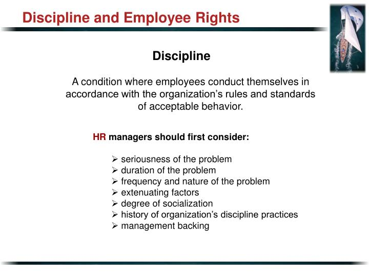 Discipline and Employee Rights