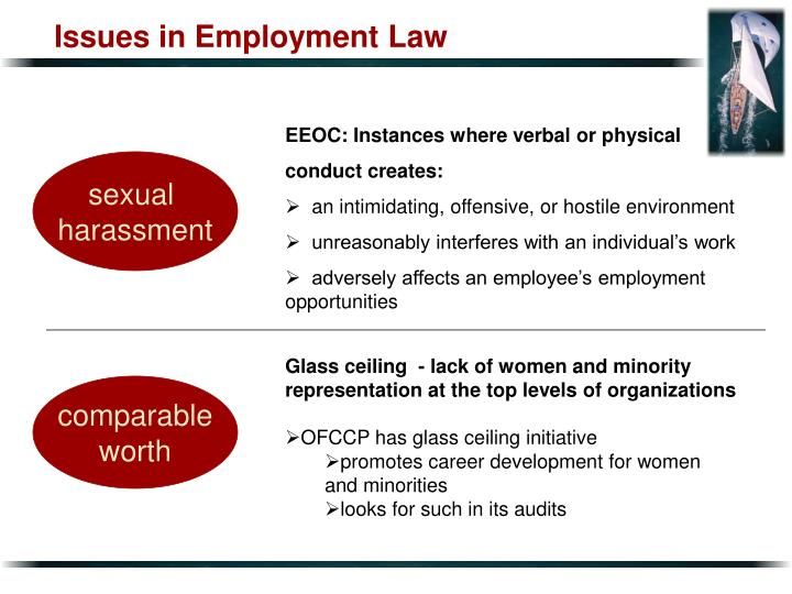 Issues in Employment Law